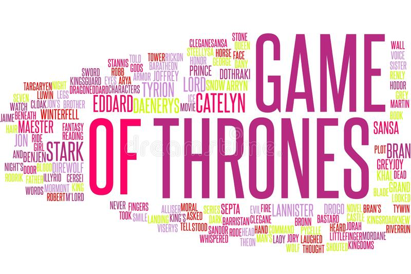 Game Of Thrones word cloud royalty free illustration