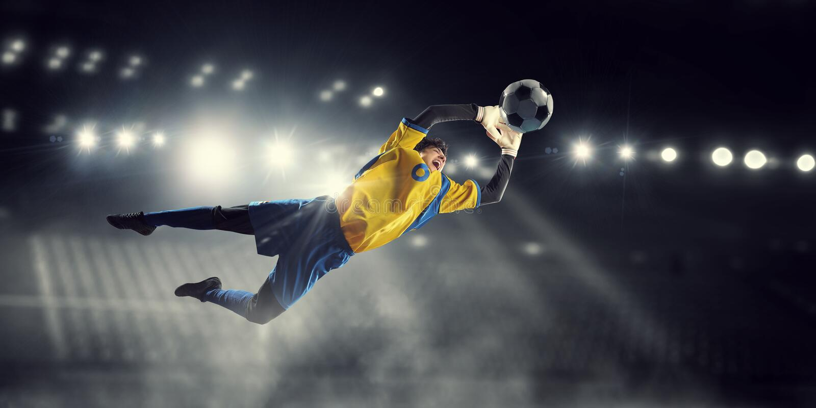 It is game time. Mixed media royalty free stock photo