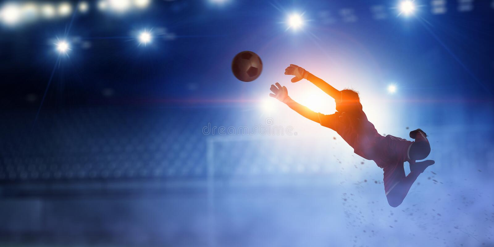 It is game time . Mixed media royalty free stock photo