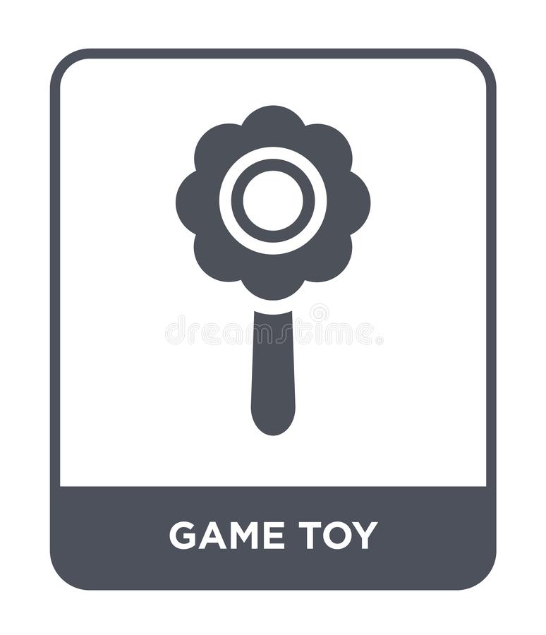 Game toy icon in trendy design style. game toy icon isolated on white background. game toy vector icon simple and modern flat. Symbol for web site, mobile, logo stock illustration
