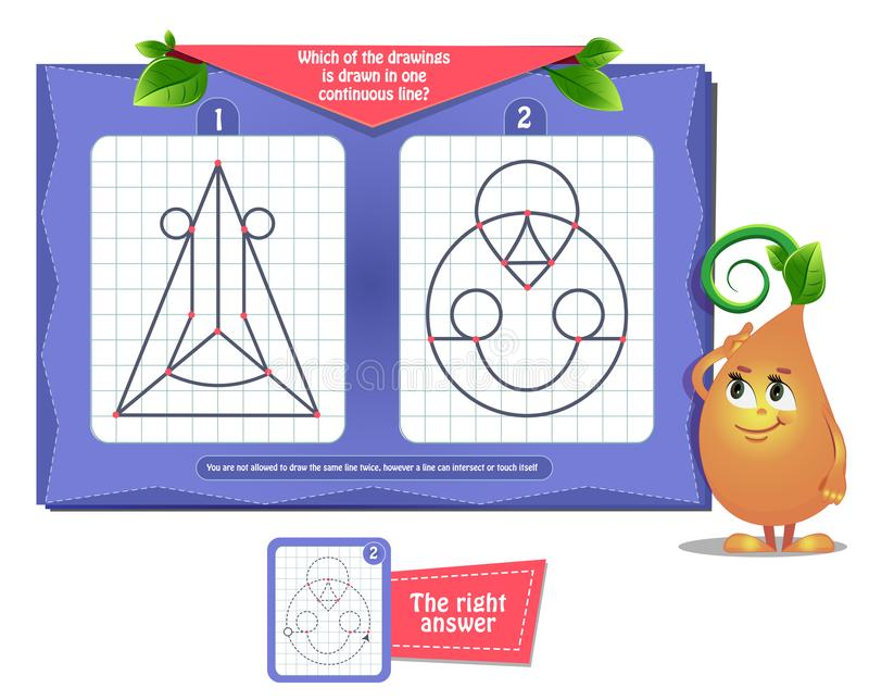 Game which of the drawing  adults. Visual educational game for children and adults. Game for brain development and iq. Task game- which of the drawings is drawn stock illustration
