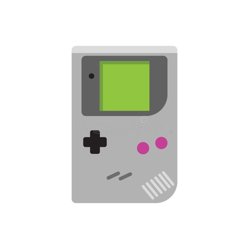 Gameboy symbol för vektor Isolerat på vit vektor illustrationer