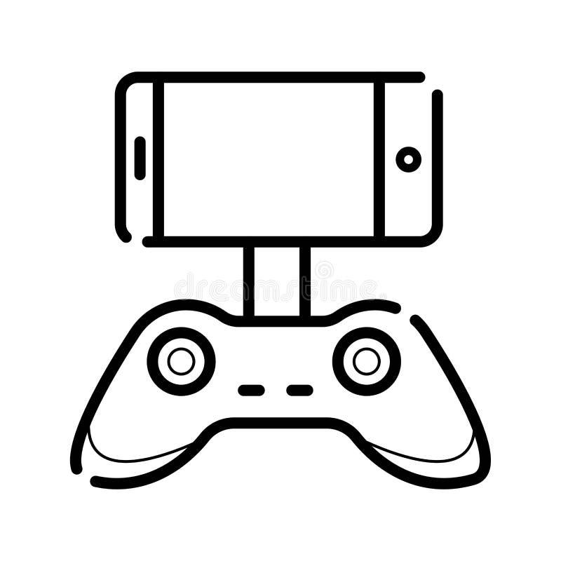 Gamecontroller für Smartphone oder Tablette stock abbildung