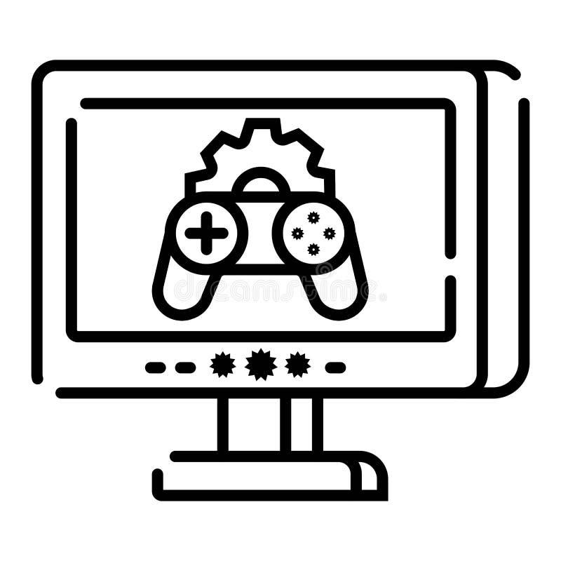 Gamecontrollerikone Auch im corel abgehobenen Betrag stock abbildung