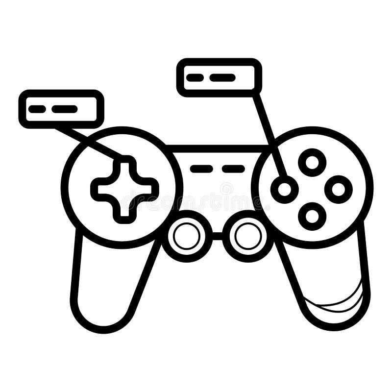 Gamecontrollerikonenvektor stock abbildung