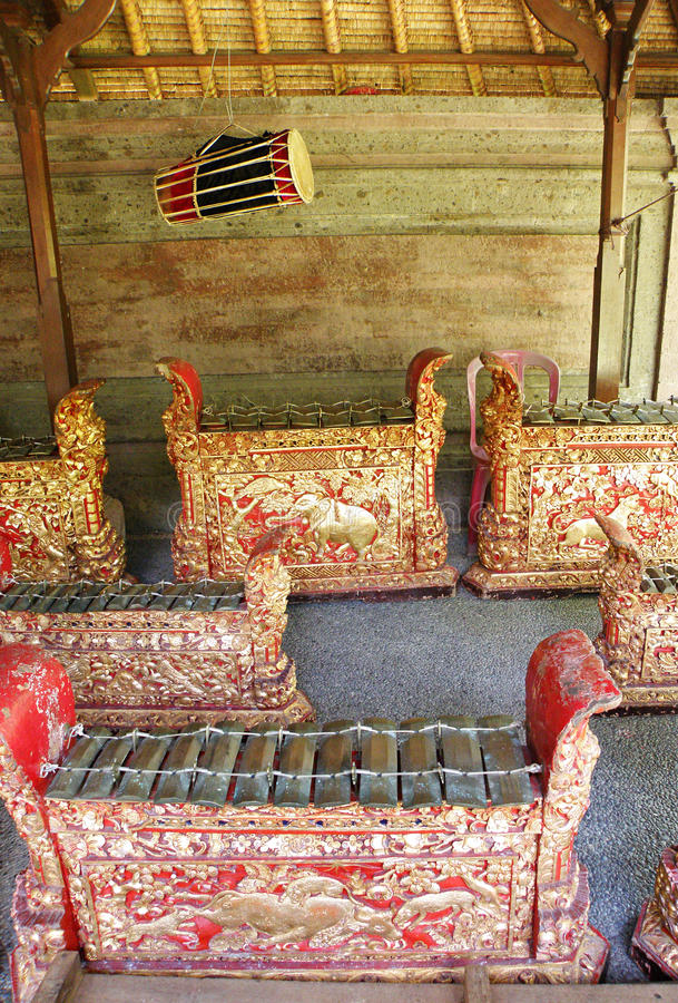 gamelan ορχήστρα οργάνων του Μπα στοκ φωτογραφία
