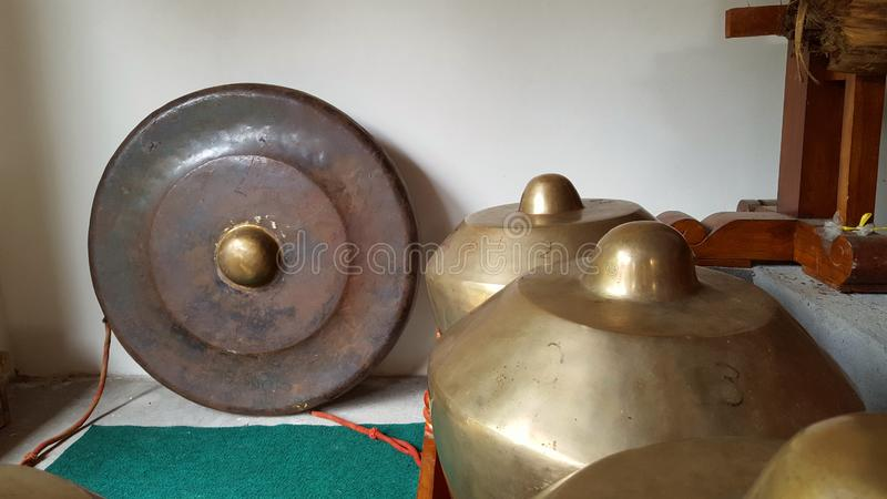Gamelan, a traditional musical instrument from Java. This type of musical instrument is usually used for staging puppet art or other. Gamelan is one musical stock images