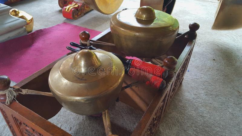 Gamelan, a traditional musical instrument from Java. This type of musical instrument is usually used for staging puppet art, gambyong or other. Gamelan is one stock images