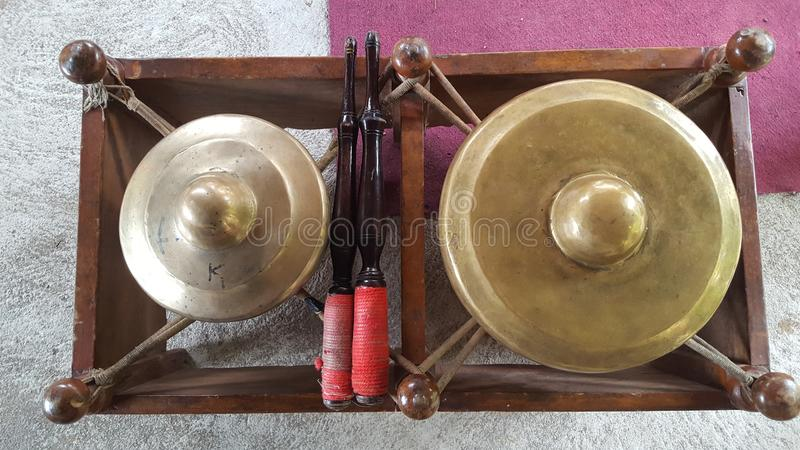 Gamelan, a traditional musical instrument from Java. This type of musical instrument is usually used for staging puppet art, gambyong or other. Gamelan is one royalty free stock images