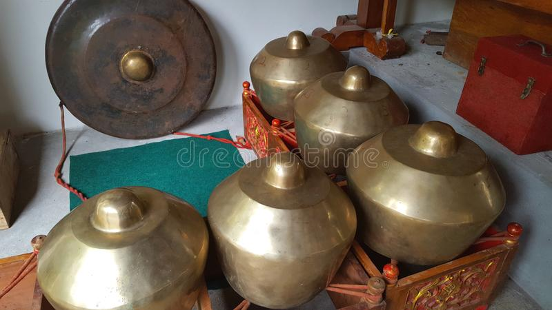 Gamelan, a traditional musical instrument from Java. This type of musical instrument is usually used for staging puppet art, gambyong or other. Gamelan is one stock photography