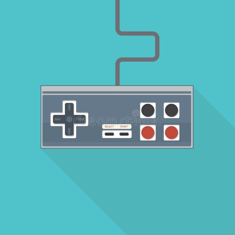 Gamepad старого стиля иллюстрация вектора