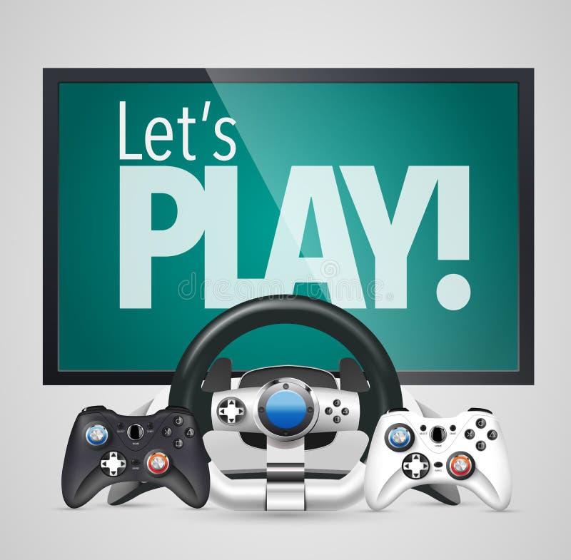 Gamepad -比赛控制器 皇族释放例证