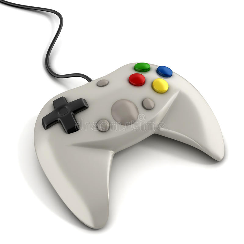 Gamepad 3d illustration. On white stock illustration