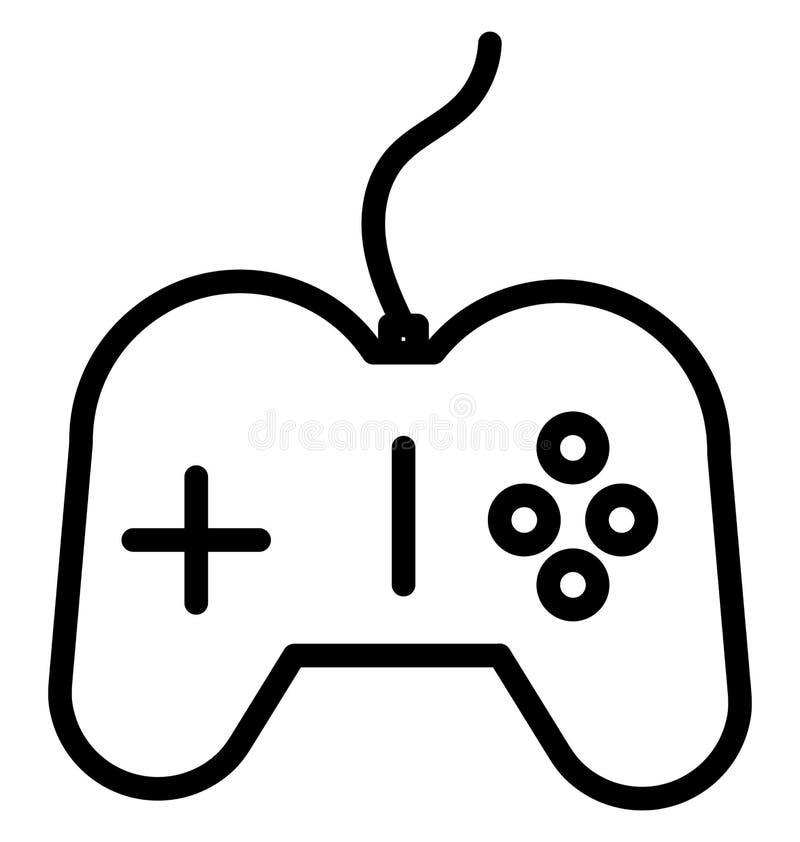 Gamepad aisló el icono del vector que puede ser fácilmente corregir o se modificó stock de ilustración