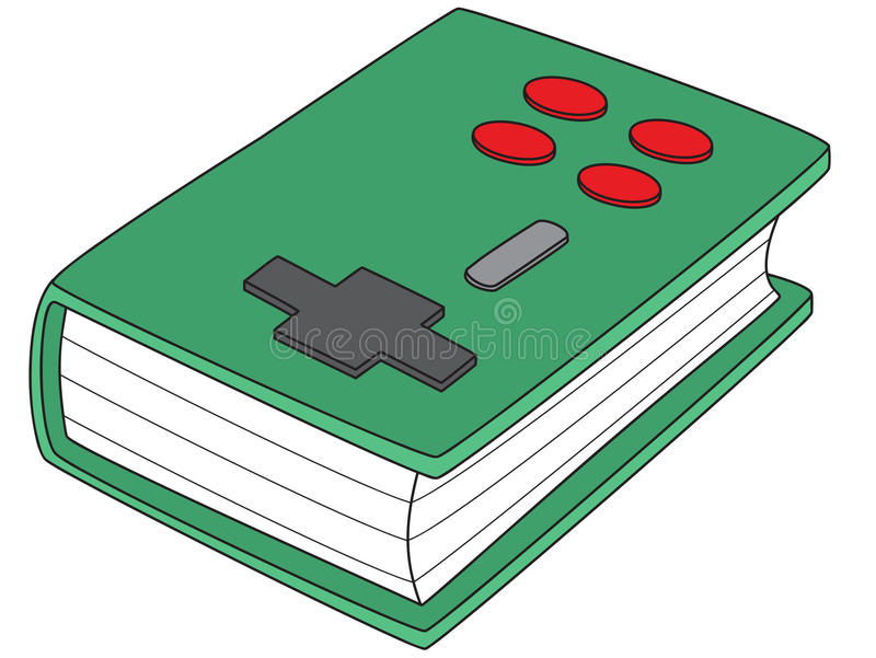 Gamepad-Book royalty free stock photography
