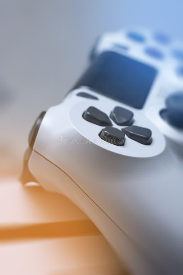 Gamepad Cierre macro del juego de la palanca de mando genérica del cojín para arriba fotos de archivo libres de regalías