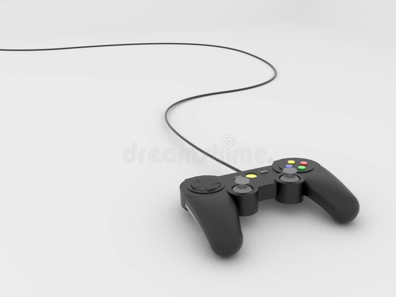 Gamepad con cavo immagine stock libera da diritti