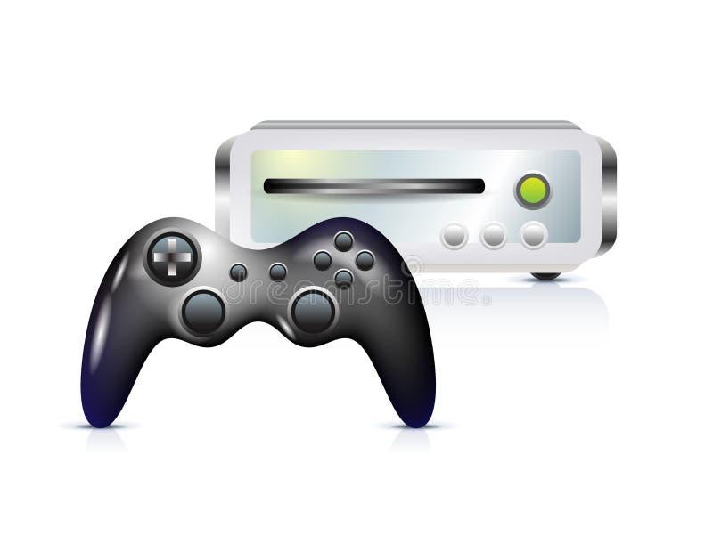 Gamepad con la consola ilustración del vector
