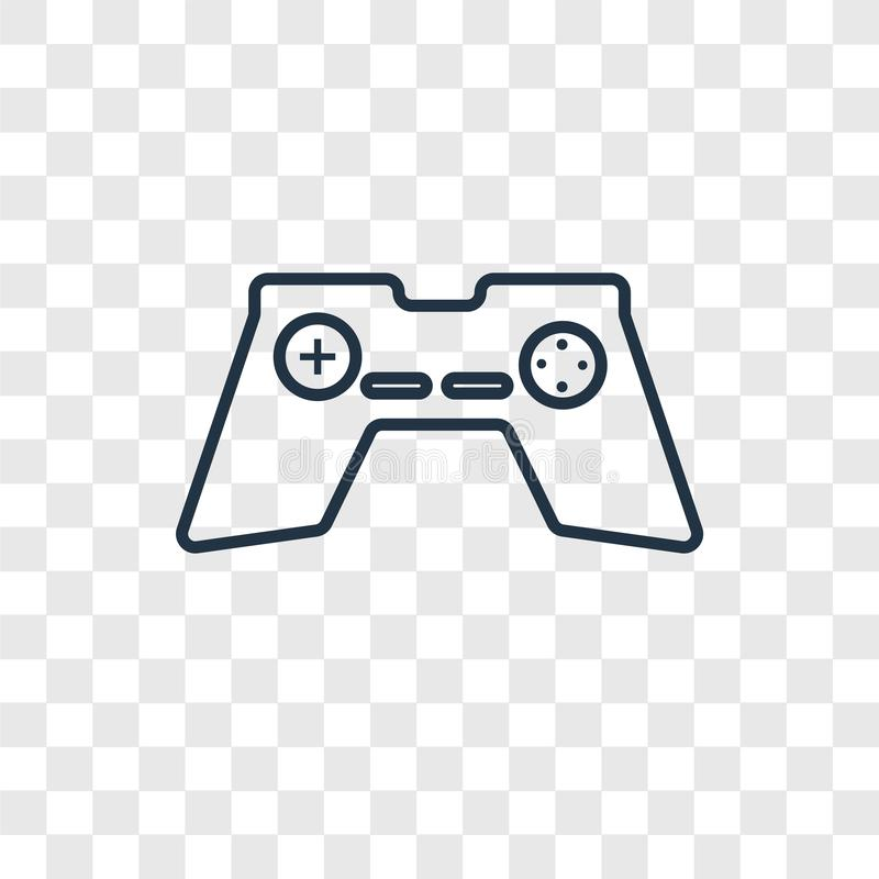 Gamepad concept vector linear icon isolated on transparent background, Gamepad concept transparency logo in outline style vector illustration