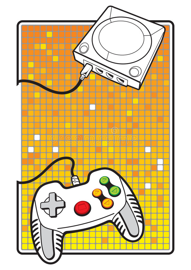 Gamepad With Console Royalty Free Stock Image