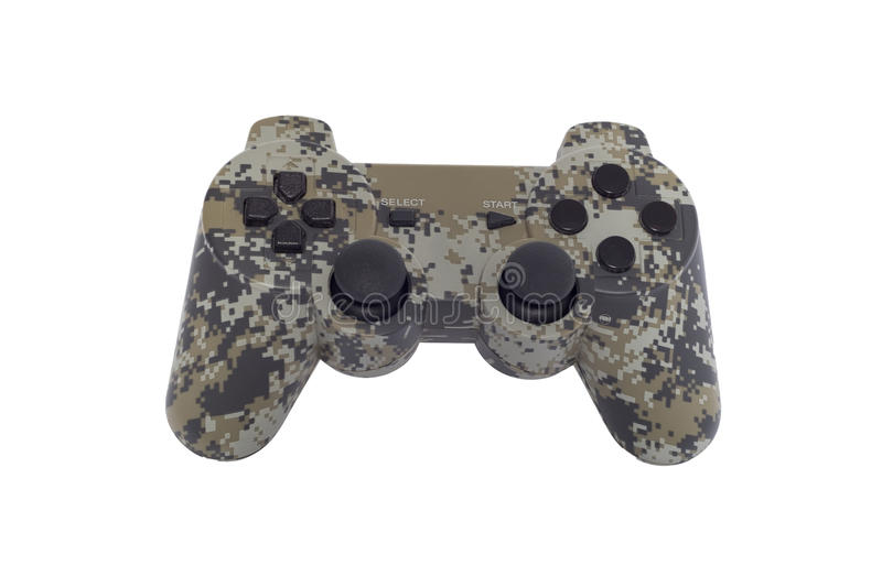 Gamepad de Camo d'isolement photo stock