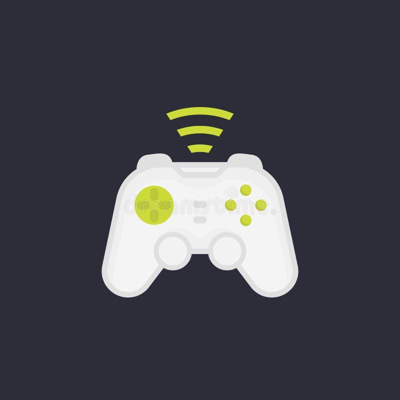Gamepad, draadloos spelcontrolemechanisme royalty-vrije illustratie