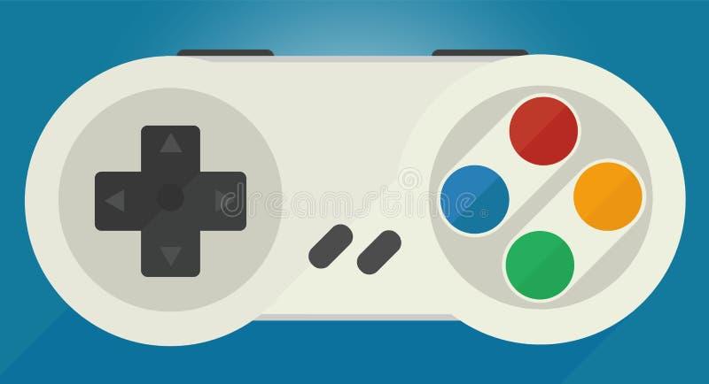 Gamepad för gamla modiga konsoler royaltyfri illustrationer