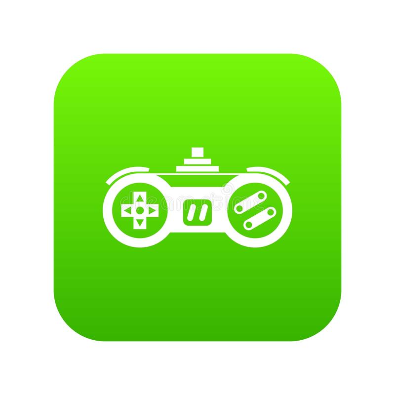 Gamepad icon digital green. For any design isolated on white vector illustration royalty free illustration