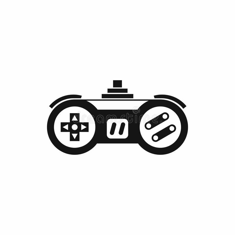 Gamepad icon in simple style. On a white background royalty free illustration