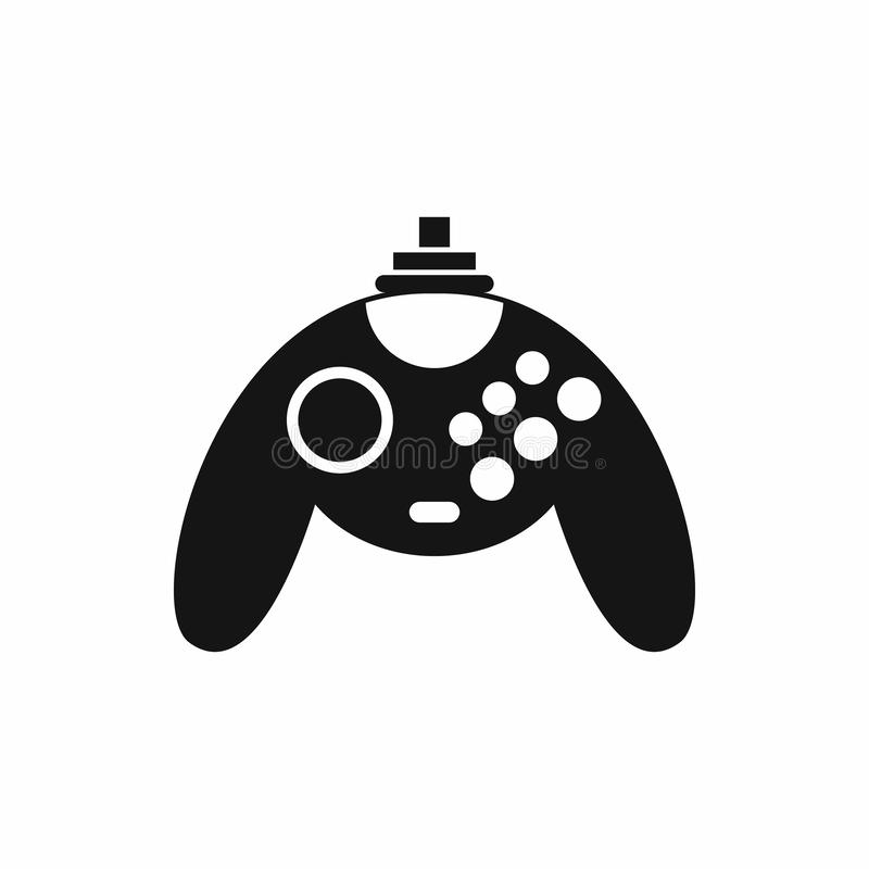 Gamepad icon in simple style. On a white background stock illustration