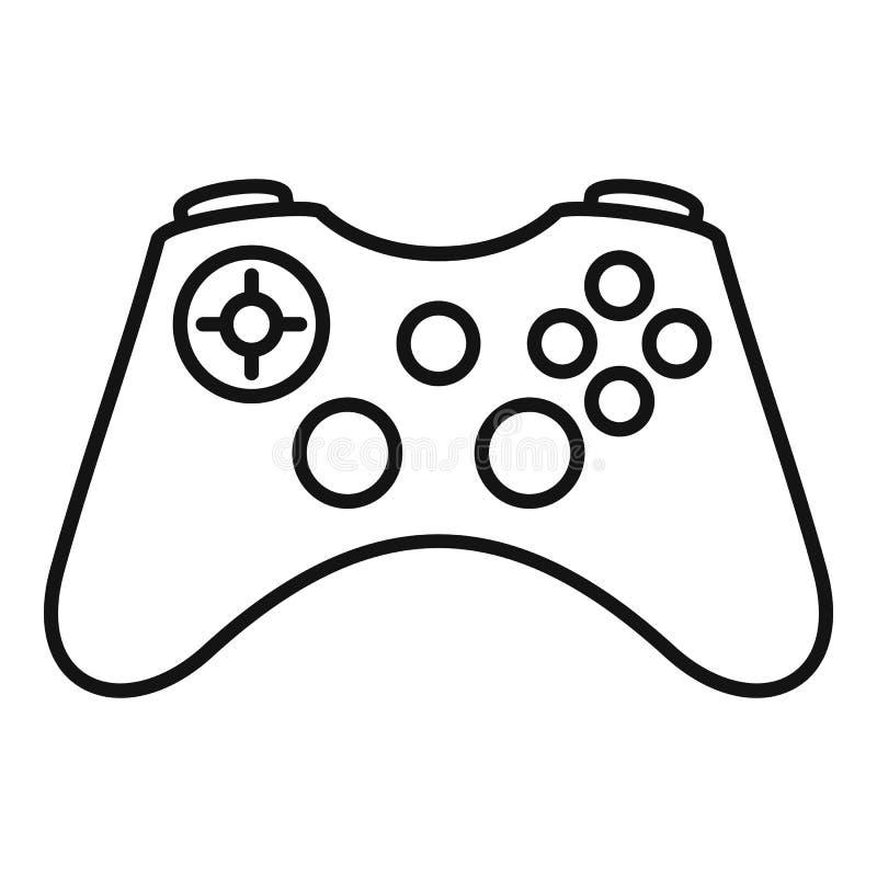 Gamepad-Ikone, Entwurfsart lizenzfreie abbildung