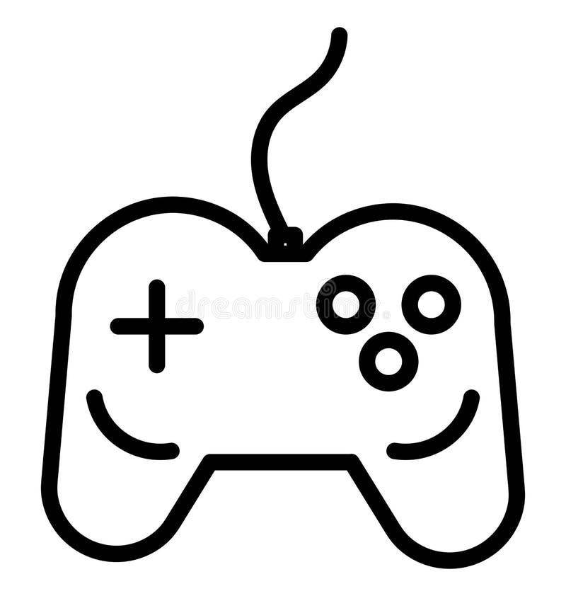 Gamepad isolou o uso do ícone do vetor para projetos do curso e da excursão ilustração stock