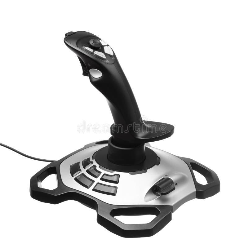 Gamepad joystick. Isolated on white royalty free stock photography