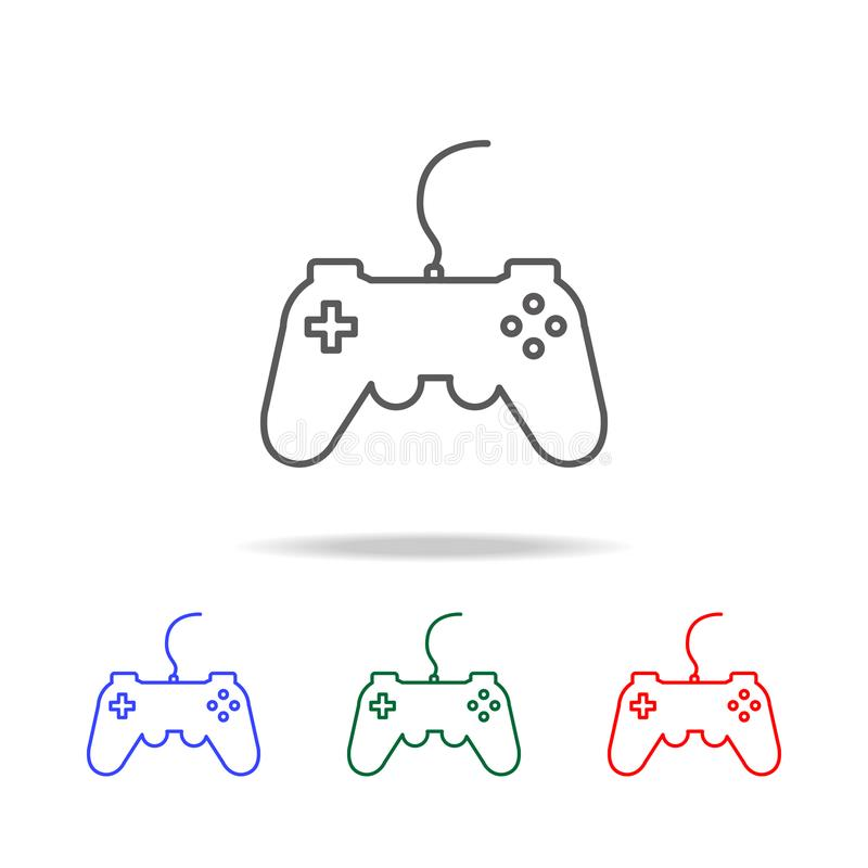 gamepad, joystick, controller icon. Elements of game life in multi colored icons. Premium quality graphic design icon. Simple icon stock illustration