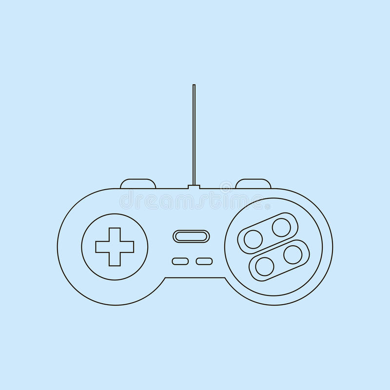 Gamepad Joystick Icon. Gamepad Joystick. Joystick game console. Vector illustration stock illustration