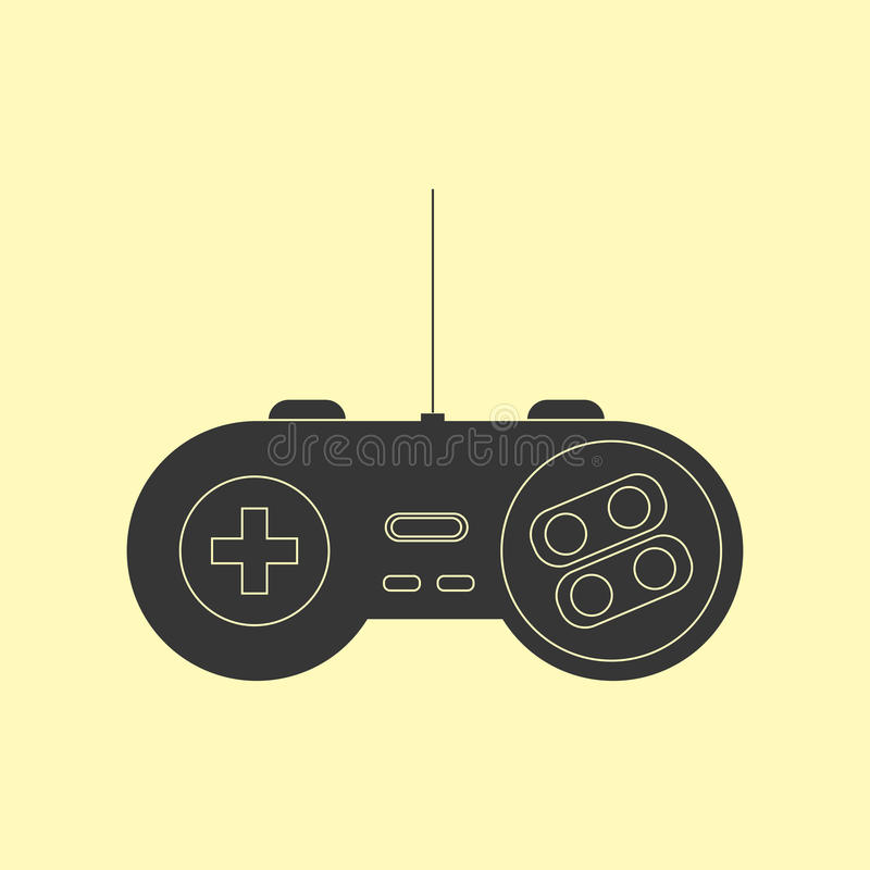 Gamepad Joystick Icon. Gamepad Joystick. Joystick game console. Vector illustration royalty free illustration