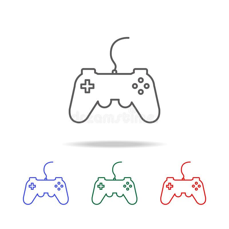 gamepad, joystick, kontroler ikona Elementy gemowy życie w wielo- barwionych ikonach Premii ilości graficznego projekta ikona iko ilustracji