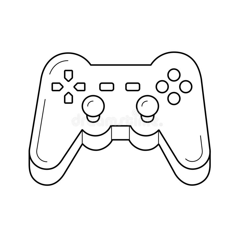 Gamepad line icon. Gamepad vector line icon isolated on white background. Joystick controller line icon for infographic, website or app vector illustration