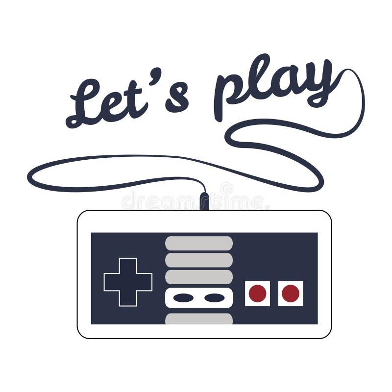Gamepad logo royalty ilustracja