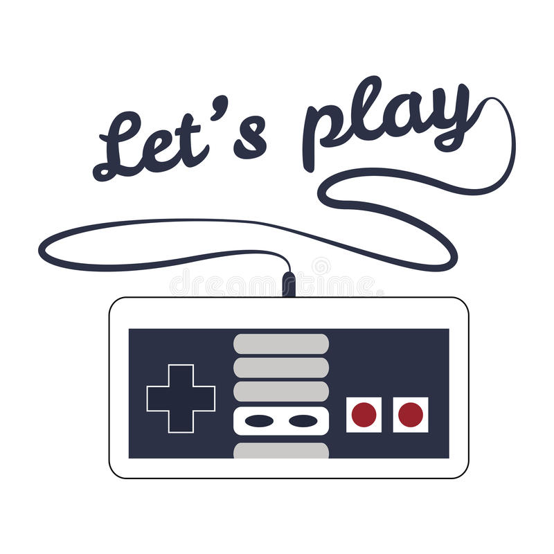 Gamepad logo royalty free stock images