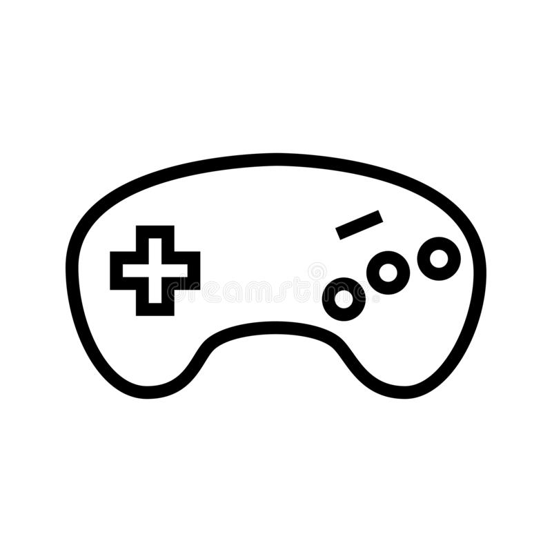 Gamepad logo vektor illustrationer