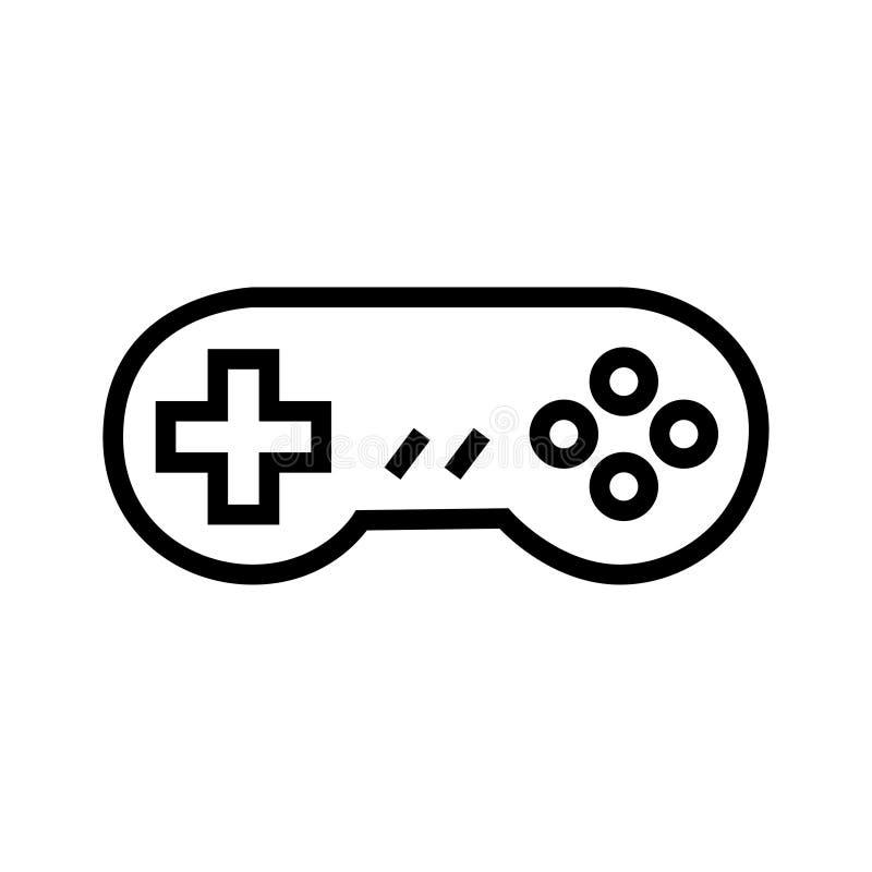 Gamepad logo vektor illustrationer