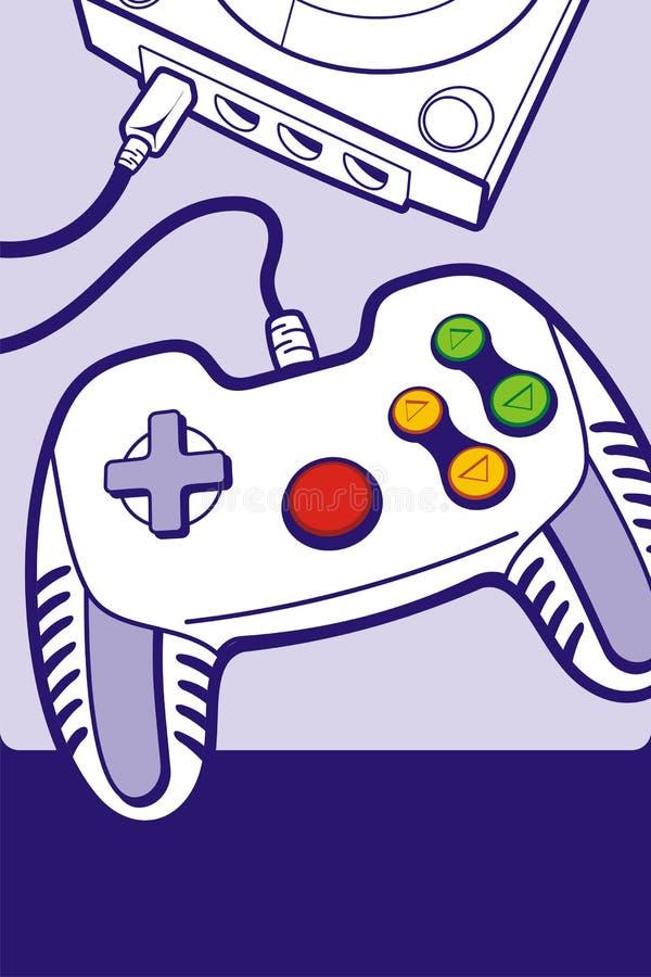 Gamepad mit Konsole lizenzfreie abbildung