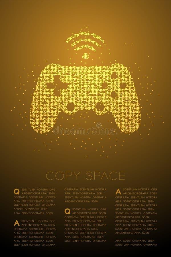 Gamepad o modello geometrico del pixel del punto del cerchio di Bokeh della particella di forma del joypad, illustrazione di colo royalty illustrazione gratis