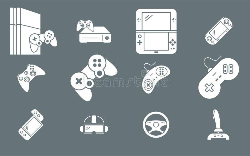 Gamepad och modiga konsolsymboler 02 royaltyfri illustrationer
