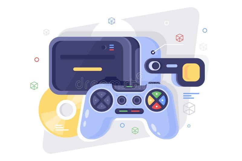 Gamepad piano per il casco del gioco, del disco e del vr royalty illustrazione gratis