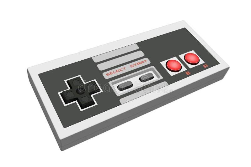 Gamepad retro ilustração stock