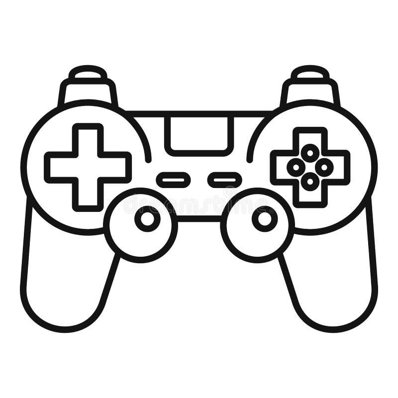 Gamepad-Steuerikone, Entwurfsart stock abbildung