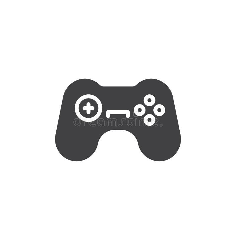 Gamepad symbolsvektor, fyllt plant tecken, fast pictogram som isoleras på vit royaltyfri illustrationer