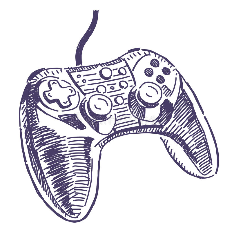 Gamepad vector drawing stock illustration